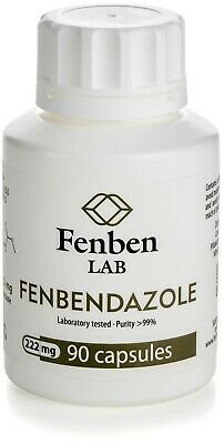 Fenbendazol 222mg Purity 99 Fenben Lab Third-party Test Results 90 Capsules