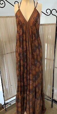 Indian Vintage Silk Dress Bohemian Handmade Hippie Ethnic Gypsy