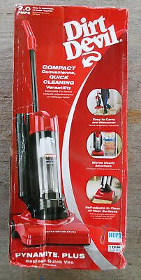 Dirt Devil M084650 Dynamite Plus Quick Vacuum, Red / Brand New in damaged box