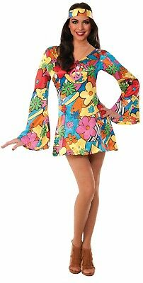 Forum Novelties Hippie Groovy 60s Go Go Dress Adult Halloween Costume - Hippie Groovy