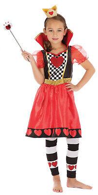 Queen of Hearts Alice in Wonderland Kids Childs Girls Fancy Dress Costume 3-13](Queen Of Hearts Costume Children)