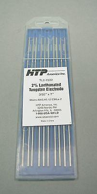 10 Htp 2 Lanthanated Tungsten Tig Electrodes 332 X 7 Blue 2.4mm