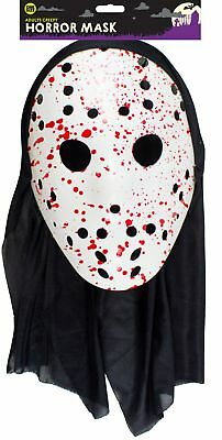 Halloween Erwachsene Blutig Hockey Horror Kostüm Maske Scream Blood Party Kostüm ()