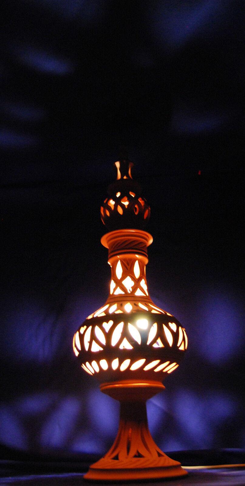 windlicht lampe laterne aus terracotta terrakotta 70 cm f r garten innenraum eur 29 00. Black Bedroom Furniture Sets. Home Design Ideas