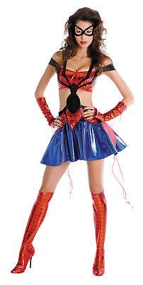 Spiderman Halloween Costume For Women (Spider Girl Sassy Prestige Adult Women's Costume Spiderman)