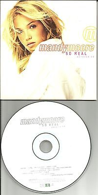 Mandy Moore So Real Ultra Rare Card Sleeve Advnce Promo Dj Cd Usa 1999 Abk69917