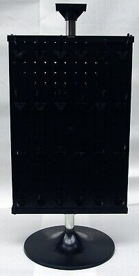 2 Sided Plastic Black Counter Top Peg Board Spinner Rack Display With Hooks