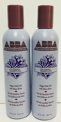 Abba Gelsential Mega Hold Gel With Mica Shine - 2 Pack (8 fl oz each)