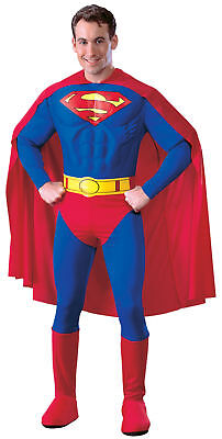 SUPERMAN ADULT MUSCLE DELUXE ADULT COSTUME SuperHero Comic - Superman Deluxe Adult Kostüme