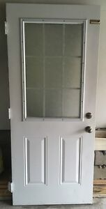 Steel Exterior door (door knob NOT included)