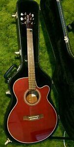 URGENT SALE Takamine RH EG260C Electric Acoustic Guitar with Hard Case