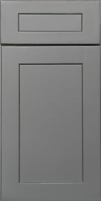 Shaker Grey Kitchen Cabinets-Sample door-RTA-All wood, in stock & ready to ship