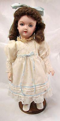 "14"" HEINRICH HANDWERCK 109 7-1/2 Character Antique Reproduction Porcelain Doll"