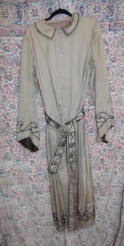 Antique Masonic Oddfellows Fraternal Ceremonial Wizard Robe Trench Coat