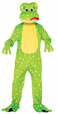 Adult Freddy the Frog Mascot Costume Animal Full Body Suit Size Standard - Frog Adult Costume