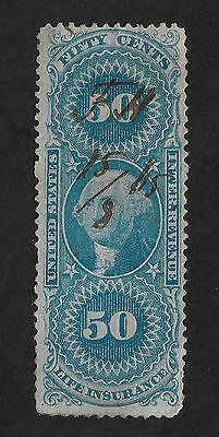 US 1st Issue Revenue #R62c used 50c Probate of Will (X1)