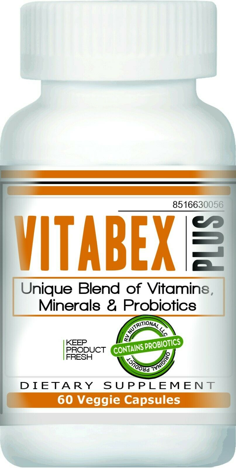Vitabex - Multivitamin/Probiotics | 180 VCaps | Exp. 6/2023 (3 BOTTLES)