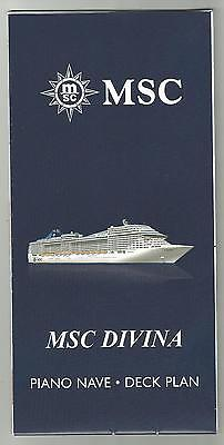 Msc Divina    Cruise Ship   Piano Nave   Deck Plan W Lg Cut A Way