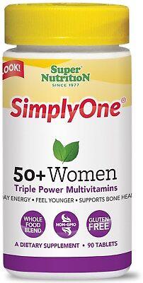 SuperNutrition Simply One 50+ Women's Multivitamin Tablet, 3