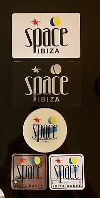 Space Ibiza Stickers - Set Of 5