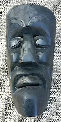 Antique Mask Wooden Painted Grotesque Art Pop Africa? French Antique