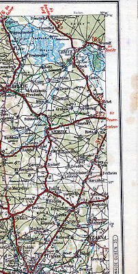 Belzig Wittenberg Zahna Niemegk 1925 Teilkarte/Ln. Brück Jeserig Kropstädt Baitz