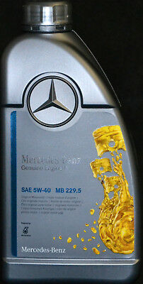 1 Liter ORIGINAL MERCEDES BENZ 5W40 PKW MOTORENÖL MB 229.5  Synthetic 5W-40 (Pkw-motoren)