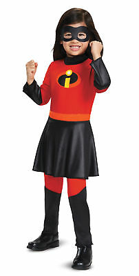 Deluxe Violet CHILD Girls Toddler Costume Jumpsuit W Skirt NEW Incredibles - Incredibles Costume Toddler
