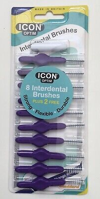 purple ICON interdental brushes - 10 in a pack