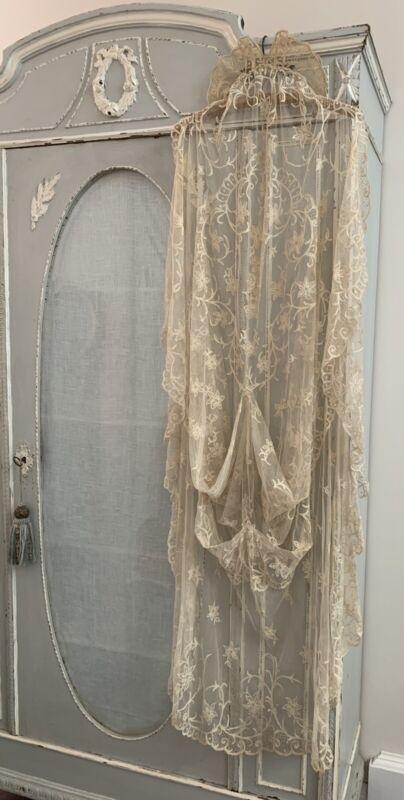 Antique ~ Irish Lace ~ Bridal Veil ~ Victorian