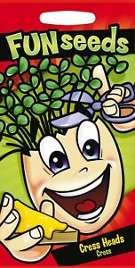 Mr Fothergills - Children Fun With Seeds - Cress Heads - 3000 Seeds Vegetable