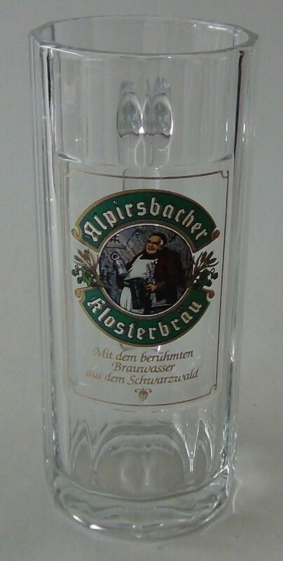 Vintage German Alpirsbacher .3L Beer Glass Mug - circa 1980 - Sanahed #1188