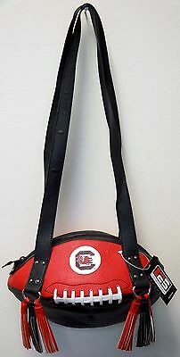 (NEW r25 South Carolina Gamecocks NCAA Logo Black/Red FOOTBALL PURSE Shoulder Bag)