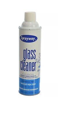 Sprayway Glass Cleaner Aerosol Spray, Fresh scent, Ammonia-free, 19 oz Ammonia 19 Oz Aerosol