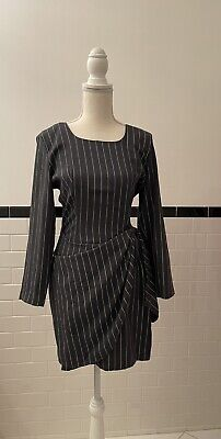 80s Dresses | Casual to Party Dresses Vintage 1980s Rampage Pinstripe Wrap Dress Sz XS $9.99 AT vintagedancer.com