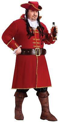 Fun World Kapitän Blackheart Morgan Erwachsene Herren Übergröße Halloween - Fun World Übergröße Kostüm