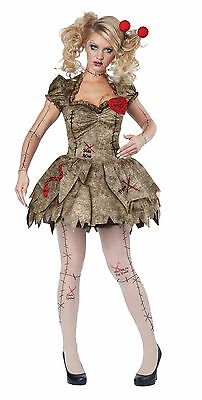 Creepy Voodoo Outfit Halloween Rag Doll Costume Adult Women](Halloween Costume Rag Doll)