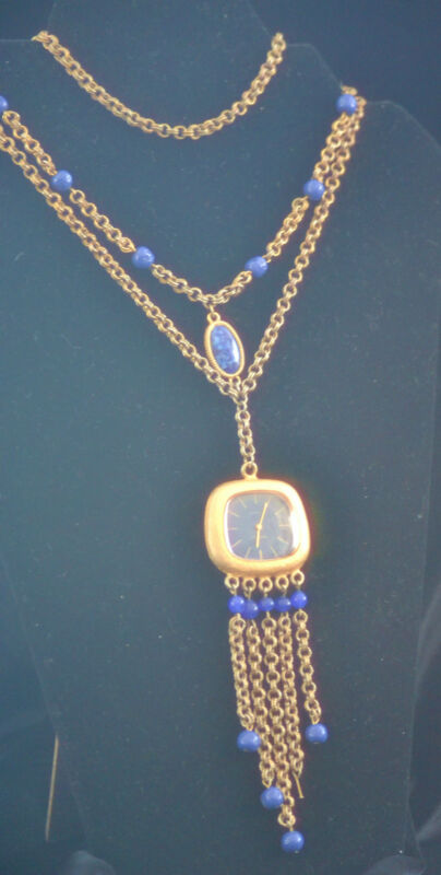 Baroness 17 Jeweles wind-up Watch & Necklace with Lapis Lazuli
