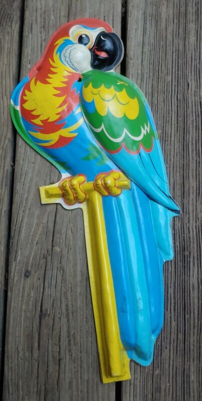 """Vintage Advertising Store Display Statue POLL PARROT SHOES 19"""" Plastic Wear"""