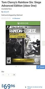 **RAINBOW SIX SIEGE ADVANCED EDITION XBOX ONE**