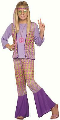 Love Child Halloween Costume (Generation Hippie Love Child Girls Halloween Costume 1970s Flower Power MD)