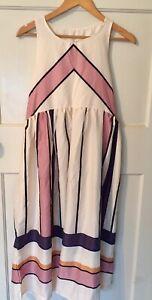 Ladies stripe midi dress size M