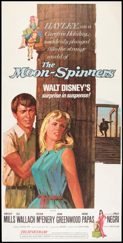 THE MOON-SPINNERS orig large 3-sheet movie poster  HAYLEY MILLS/PETER MCENERY