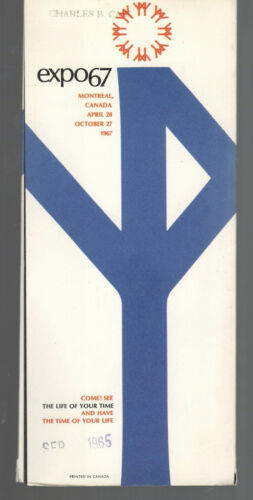 GEP1 BROCHURE EXPO 67 MONTREAL CANADA W/ MAP 428A