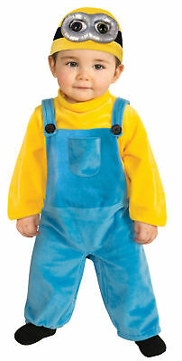 Minion Bob Toddler Costume Yellow Goggles Movie Despicable Me Halloween Jumpsuit - Toddler Minion Costume
