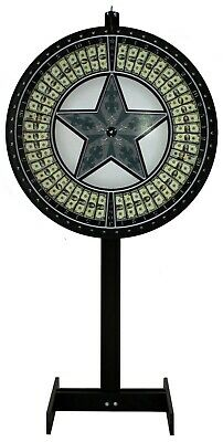 36 Money Game Wheel With Green Star On A Floor Stand With A Vinyl Laydown - Usa