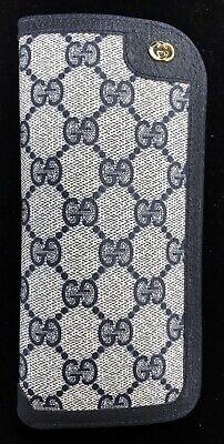 Vintage Gucci Navy Blue GG Eyeglass Case (Pouch)