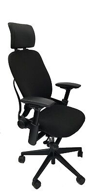 Steelcase Leap Chair Headrest 4-way Arms Adjustable Lumbar Support V2