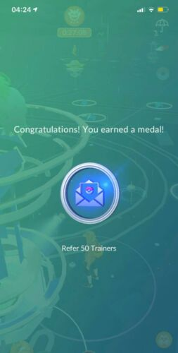 Pokémon GO New Medal Platinum Refer Trainers 100% Guaranteed !! CHEAP FAST 24HR
