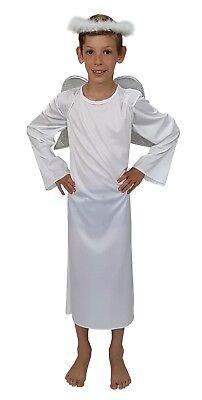 Boys Angel Gabriel Costume (ANGEL GABRIEL BOYS GIRLS CHILDRENS CHILD CHRISTMAS NATIVITY FANCY DRESS)